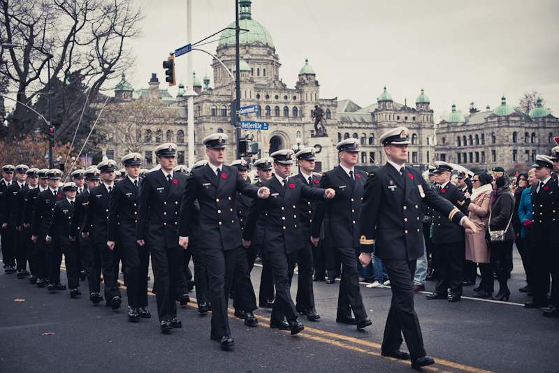 Remembrance Day at the cenotaph in Victoria, BC